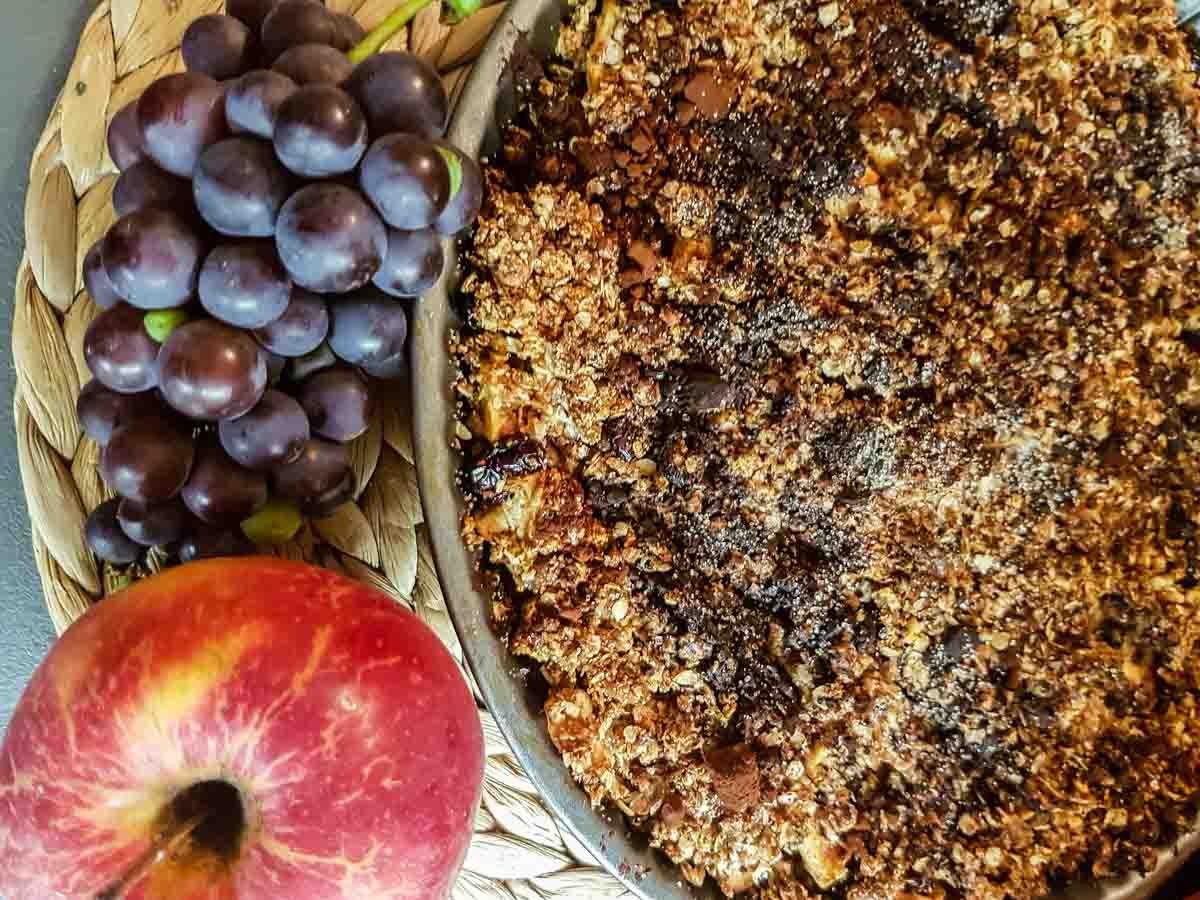 Celozrnný jablečný koláč