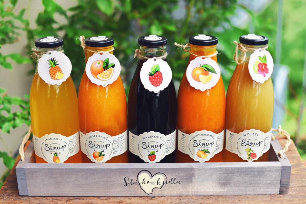 zdravé ovocné sirupy na limonády do restauraci, kaváren a barů