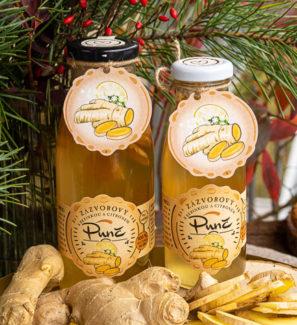 zázvorový punč s citronem a bezinkou