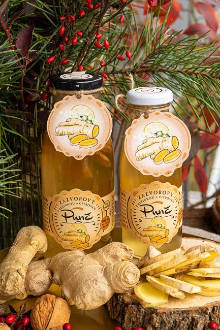 Zázvorový punč s bezinkou a citronem