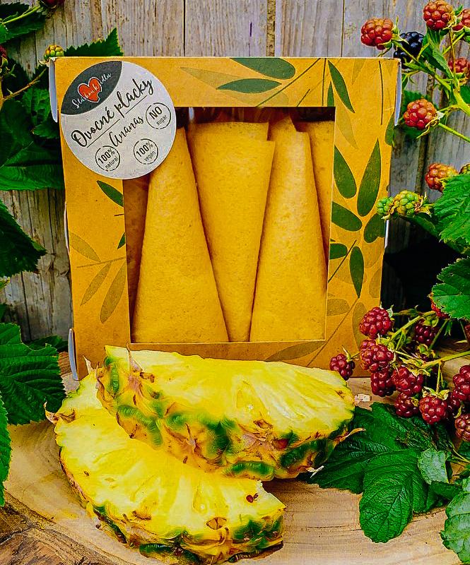 Ananasová ovocná placka